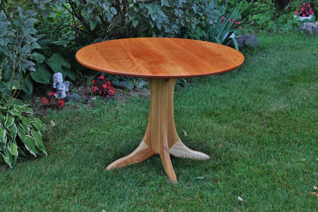 Round Cherry Table with Ash Base.jpg
