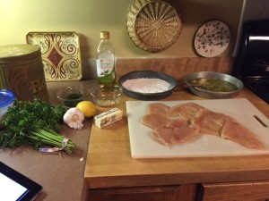Chicken Breast in Tangy Butter Sauce Prep
