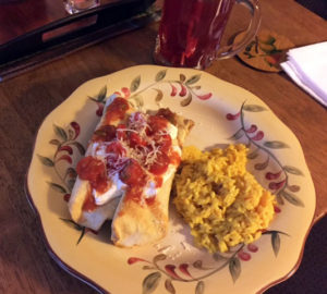Chicken Chimichangas Plate